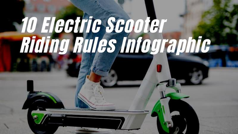 10 Electric Scooter Riding Rules. An Infographic by Noble Urban