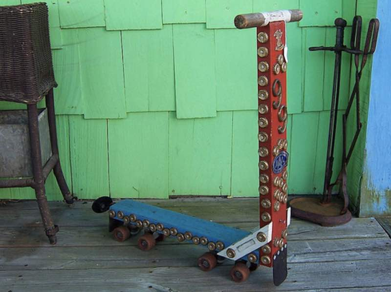 this might be the oldest kick scooter in history