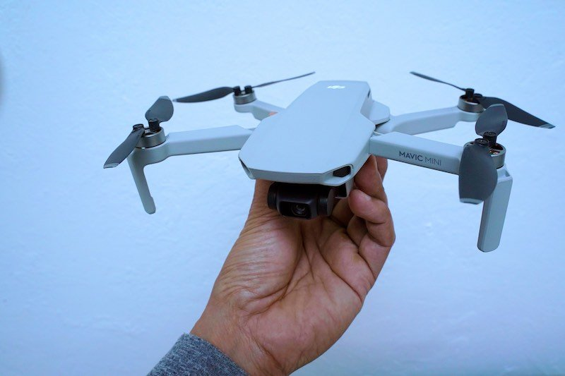 Small White Foldable Drone
