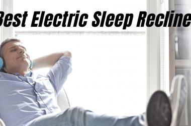 Man enjoying the comfort of an electric sleep recliner
