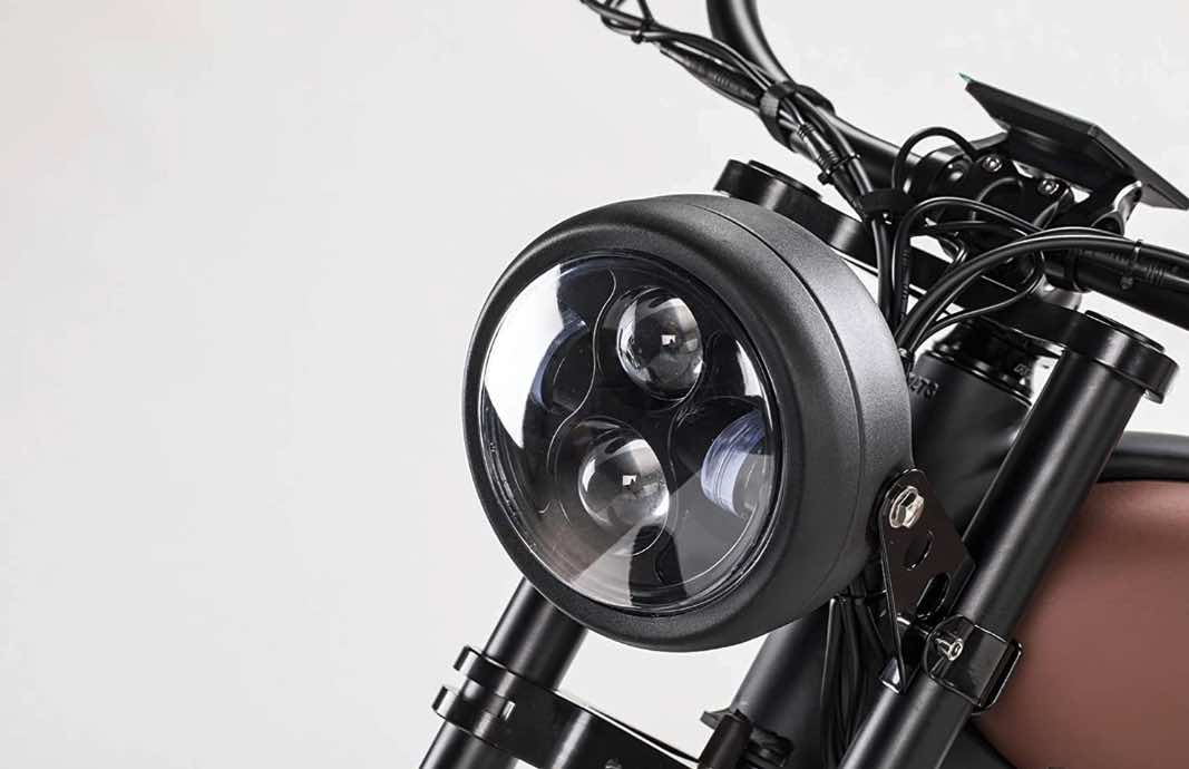 A Cafe Racer Electric Bike's Front Light.